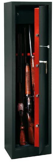 Armoire à fusils avec serrure