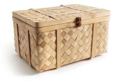 Malle artisanale en bambou