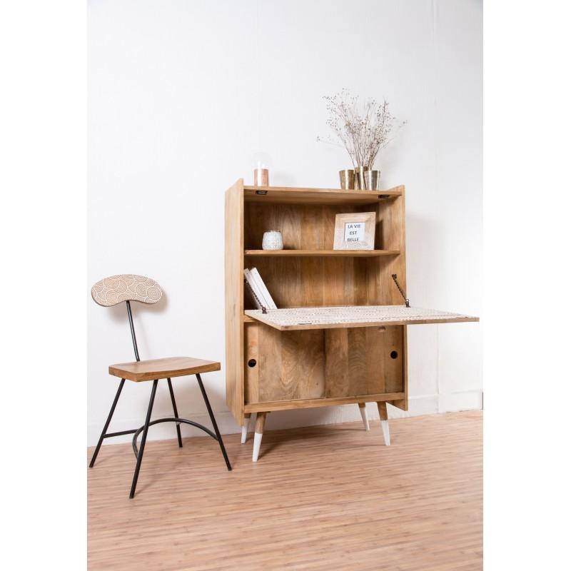meuble bureau refermable bureau design scandinave en bois et convertible emme armoire. Black Bedroom Furniture Sets. Home Design Ideas