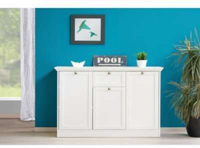 Commode design blanc 3 portes