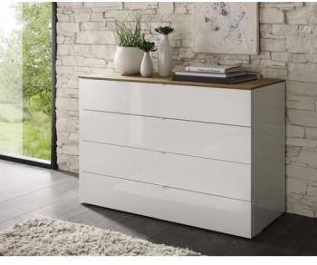 Commode laquée blanche 4 tiroirs