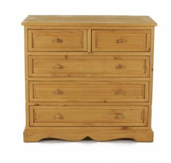 Commode en pin massif 5 tiroirs