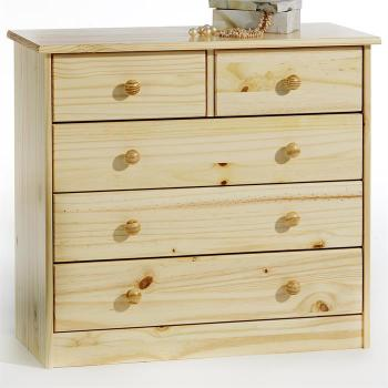 Commode en pin RONDO 2 3 tiroirs