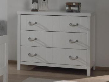 Commode LEMMY 3 tiroirs blanc