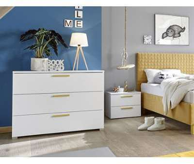 Commode design blanc et jaune
