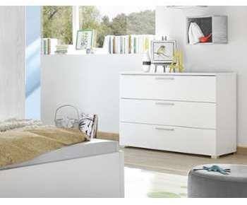Commode blanche et grise design