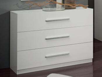 Commode GINOLA 3 tiroirs blanc