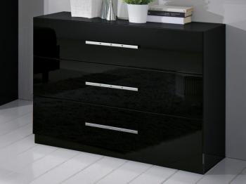 Commode GINOLA 3 tiroirs noir