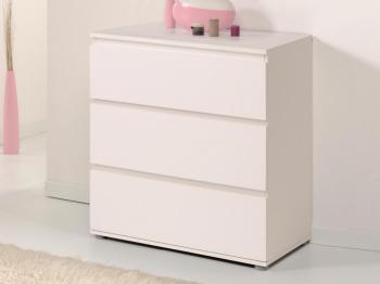 Commode NOE 3 tiroirs blanc