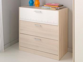 Commode CARL 3 tiroirs acacia
