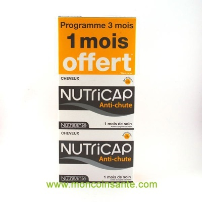 nutrisante nutricap anti chute 180 glules shampoings et an. Black Bedroom Furniture Sets. Home Design Ideas
