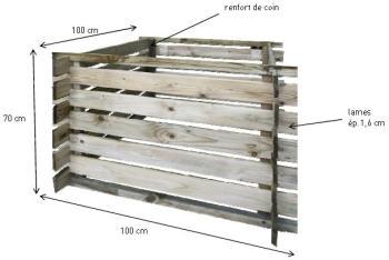 Bac compost First (avec renforts