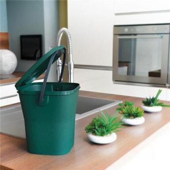 Seau à compost vert 6 litres