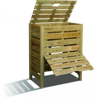 Composteur en bois avec trappe