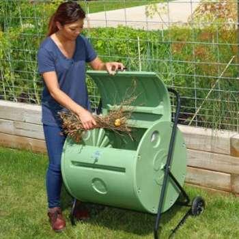 Composteur de jardin rotatif