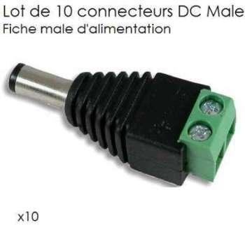 Lot de 10 connecteurs DC Male