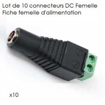Lot de 10 connecteurs DC femelle
