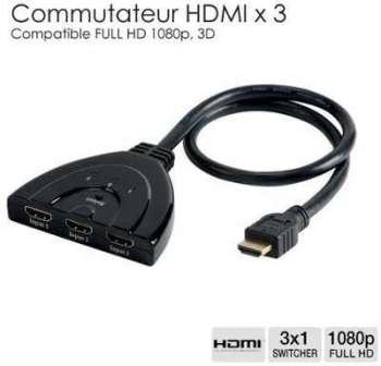 Répartiteur HDMI vers 3 HDMI