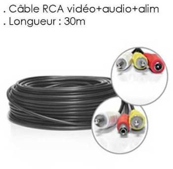 Cable RCA VIDEO AUDIO ALIMENTATION