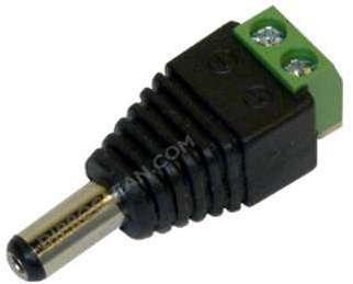 Connecteur led jack male 12V