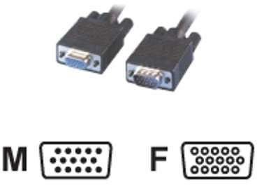 Câble SVGA HD15 mâle femelle
