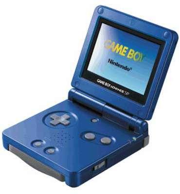 Game Boy Advance SP bleuee