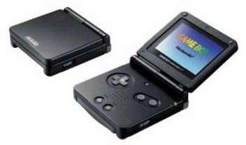 Game Boy Advance SP noire