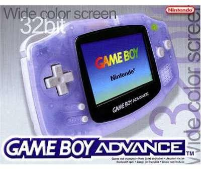 Game Boy Advance bleue