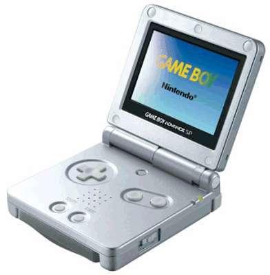 Game Boy Advance SP Argent
