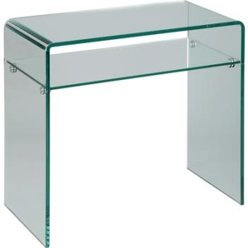 Console design en verre trempé