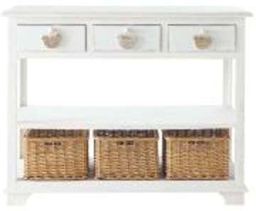 Table console blanche L 108