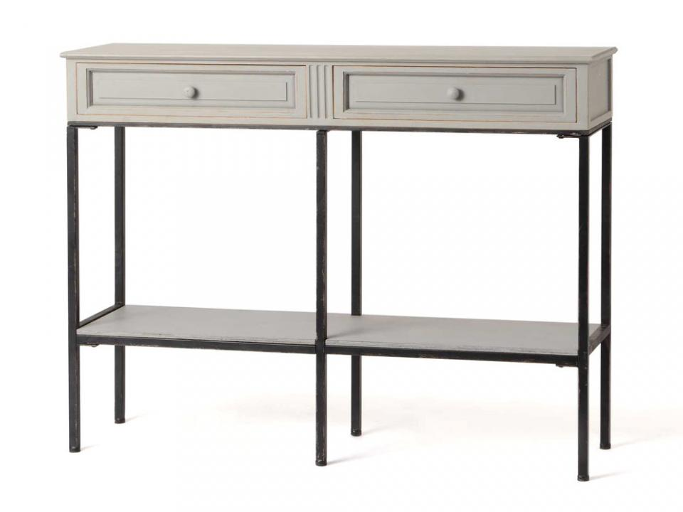 couleurs console pin massif 2 tiroirs colorado des alpes. Black Bedroom Furniture Sets. Home Design Ideas
