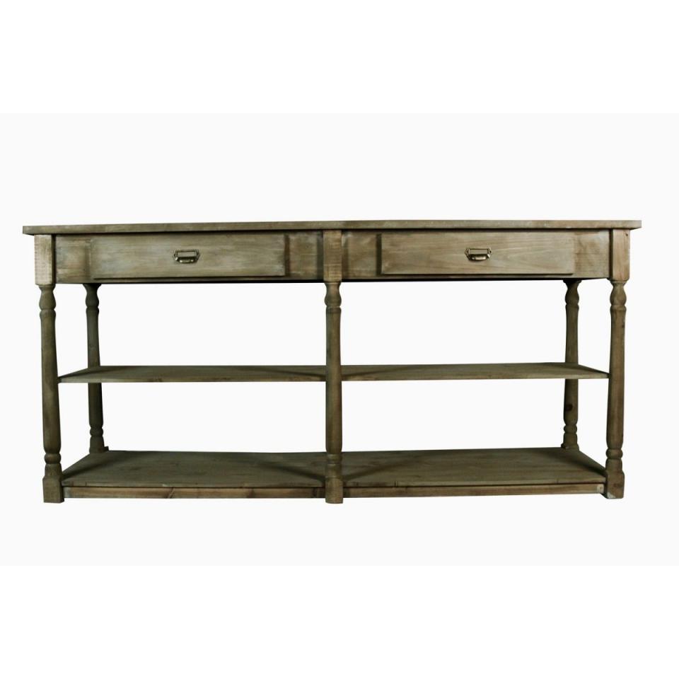Catgorie consoles du guide et comparateur d 39 achat for Meuble 2 tiroirs 60 cm woodstock bois clair