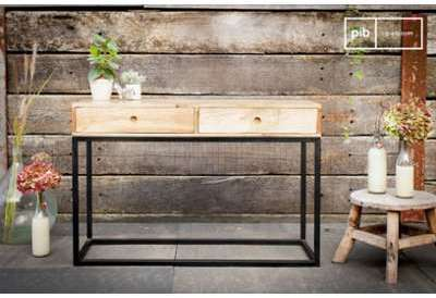 Console à tiroirs en bois