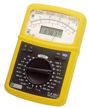 Multimètre analogique numérique