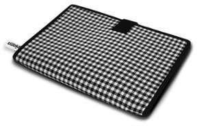 Housse iPad Folio Vichy noir