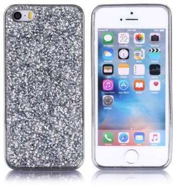 Coque strass gris pour iphone