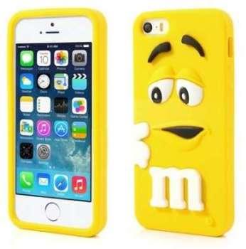 Coque M M S jaune en silicone