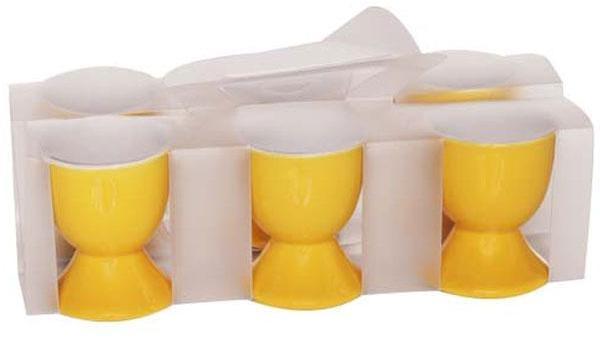 Coquetier en grès jaune -