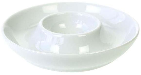 Coquetier en porcelaine blanche