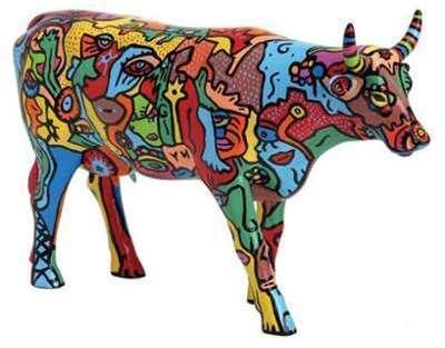 Figurine vache Moo York Celebration