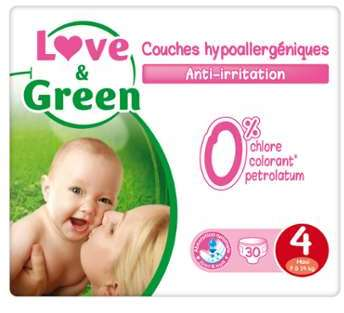 Couches T4 7-14 kg Love Green