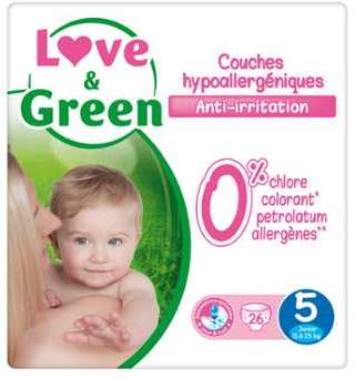 Couches T5 11-25 kg Love Green