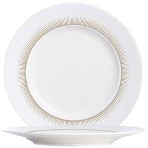 Sous-tasse plate ronde blanche