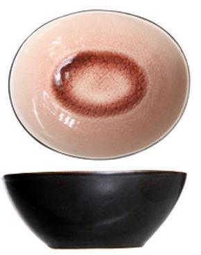 Coupelle ronde noire et rose