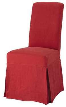 Housse longue de chaise en