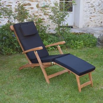Matelas Noir pour Chaise longue