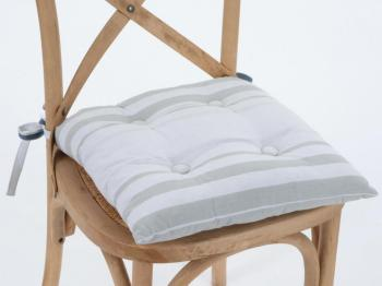Galette de chaise capitonnée