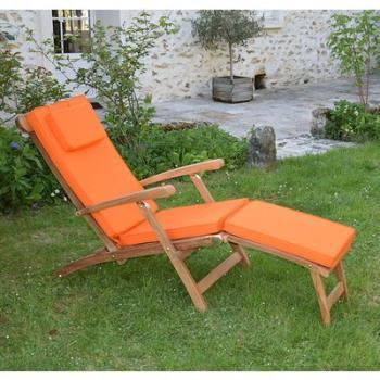Matelas Orange pour Chaise