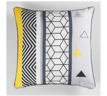 Coussin graphique yellow mix